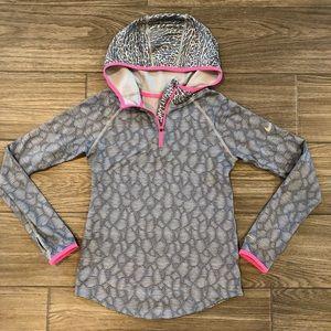 Nike Pro Dry-Fit Half Zip Hoodie- Girls Large